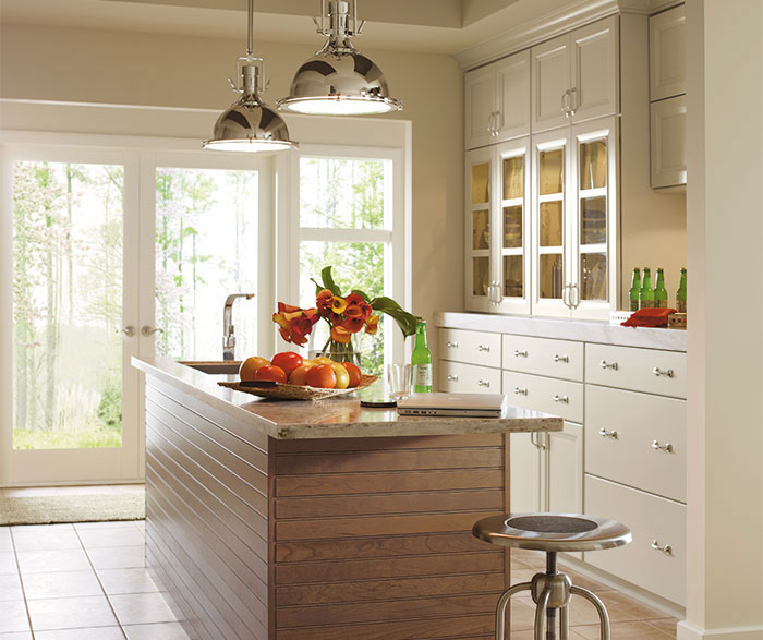 Painted Maple Cabinets in a Casual Kitchen
