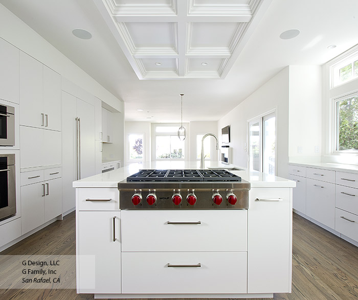 White Kitchen with Modern Cabinets