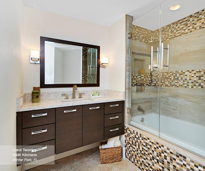 Tarin contemporary bathroon vanity in walnut kodiak
