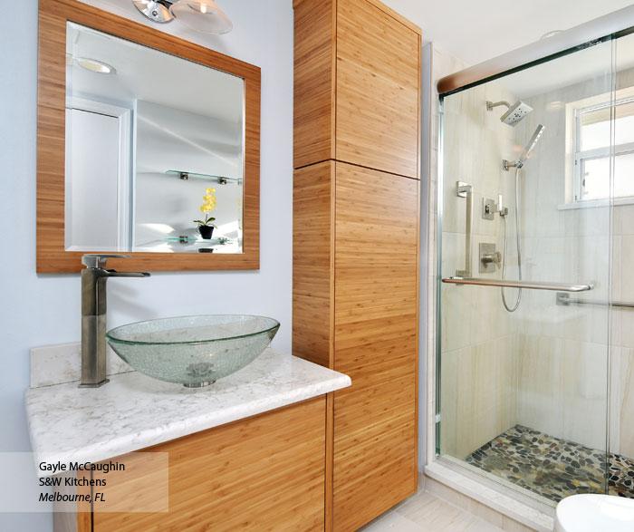 Tarin Natural Bamboo bathroom cabinets