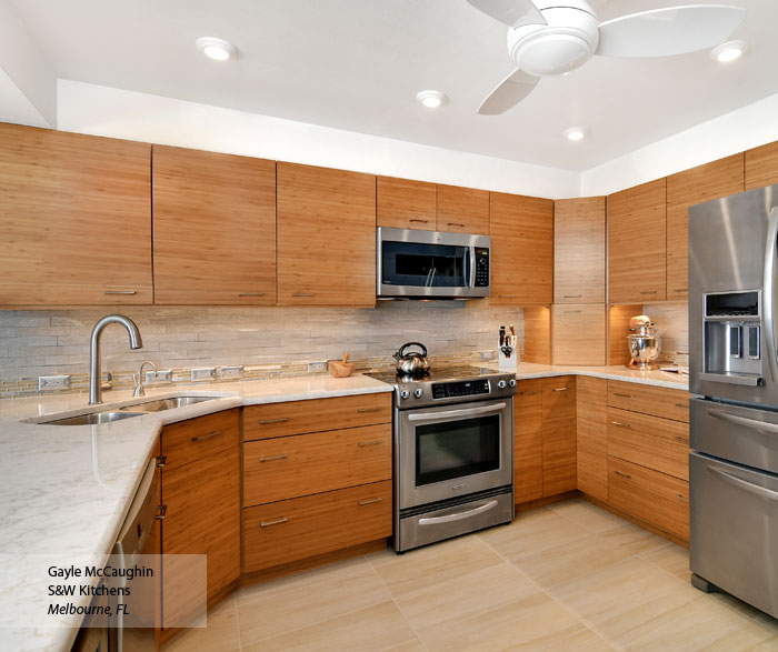 Tarin Natural Bamboo kitchen cabinets