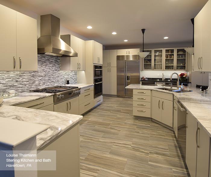 Vail modern grey kitchen in maple dove
